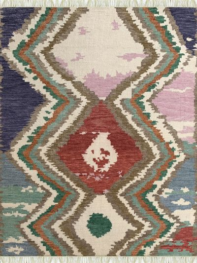 Carpetmantra Handknotted Multi Transitional Carpet 5.4ft X 7.8ft