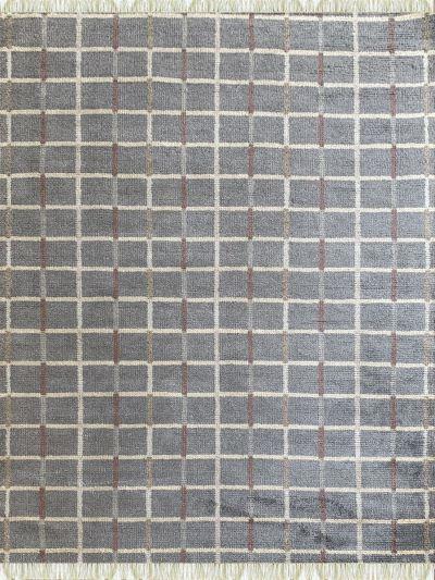Carpetmantra Bamboo Silk Handmade Grey Carpet 5.7ft X 7.9ft