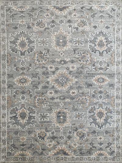 Carpetmantra Handknotted Transitional Grey Carpet v