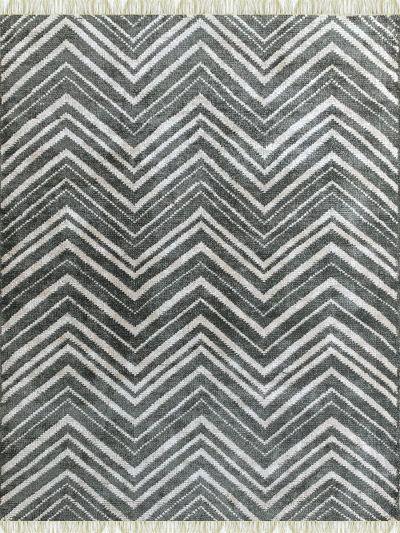 Carpetmantra Bamboo Silk Handmade Grey Carpet 5.8ft x 7.8ft
