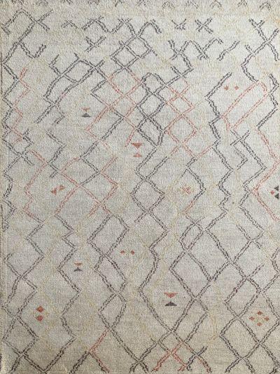 Carpetmantra  Handknotted Moraccan Beige Carpet 5.6ft X 7.8ft