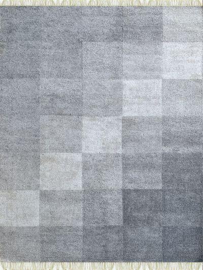Carpetmantra Bamboo Silk Handmade Grey Carpet 5.7ft X 7.10ft