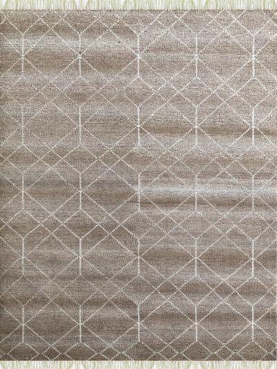 Carpetmantra Bamboo Silk Handmade Beige Carpet 5.7ft X 7.10ft