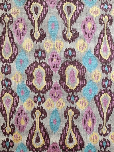 Carpetmantra Handknotted Transitional Multi Carpet 5.6ft X 7.10ft