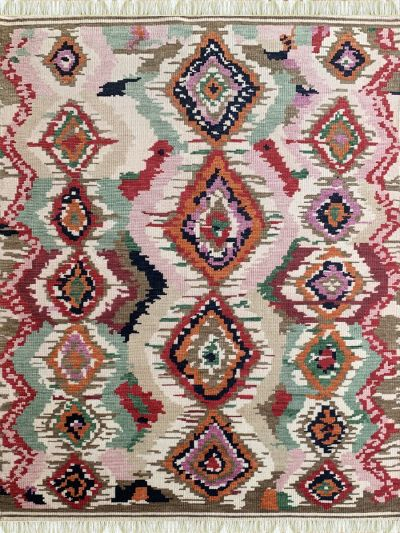 Carpetmantra Handknotted Transitional Multi Carpet 5.5ft X 7.7ft