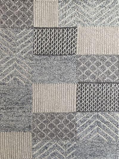 Carpetmantra Hand Woven Natural Grey Carpet 4.6ft X 6.6ft