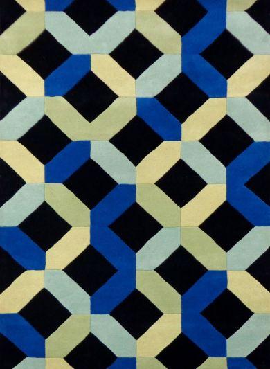 Carpet Mantra Black Geomentrical carpet 5.3ft x 7.7ft