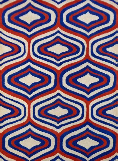 Carpet Mantra Beige Geomentrical carpet 5.3ft x 7.7ft