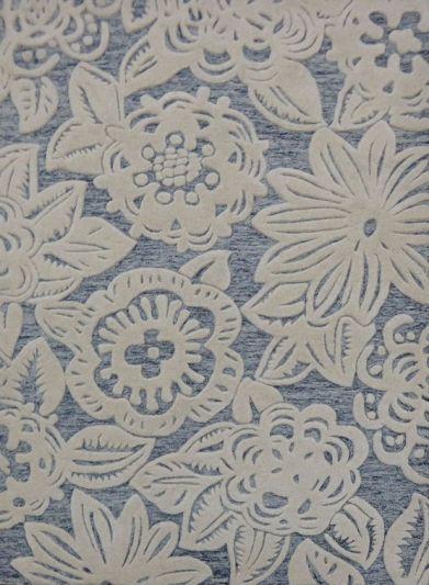 Carpet Mantra Grey Floral carpet 3.11ft x 5.8ft