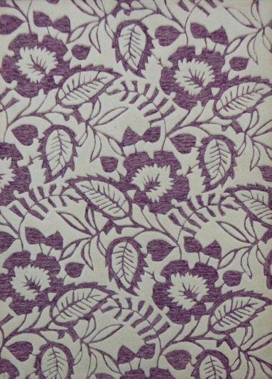 Carpet Mantra Purple Floral Carpet 4.6ft x 6.6ft