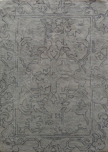 Carpet Mantra Beige Floral Carpet 4.6ft x 6.6ft