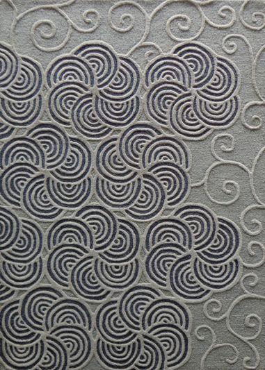 Carpet Mantra Silver modern Carpet 4.6ft x 6.6ft
