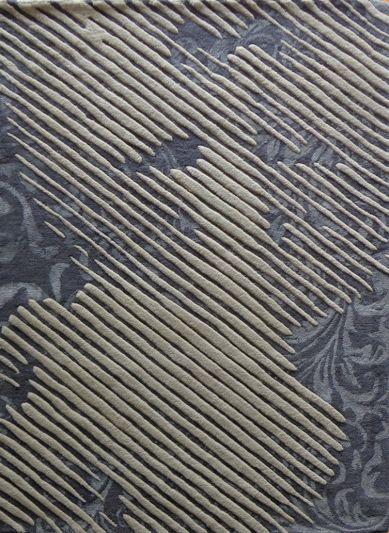 Carpet Mantra Grey modern Carpet 4.6ft x 6.6ft