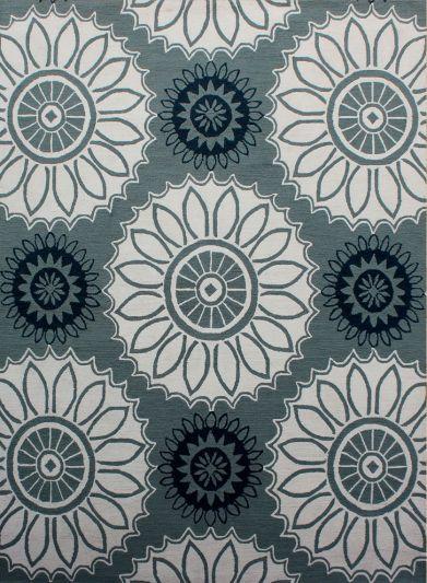 Carpet Mantra Grey Floral Carpet 7.6ft x 9.6ft