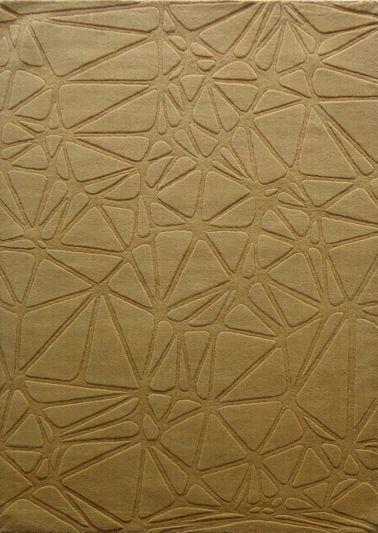 Carpet Mantra Gold Plain Carpet 4.6ft x 6.6ft