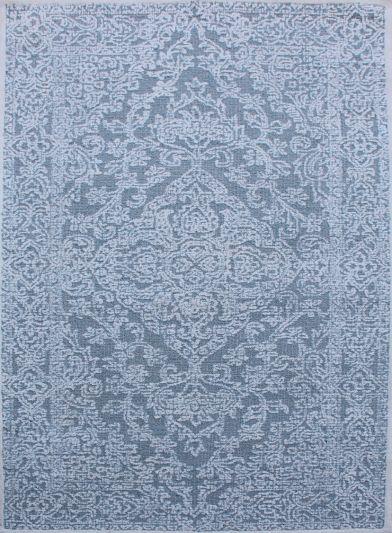 Carpet Mantra Grey Floral Carpet 5ft x 8ft