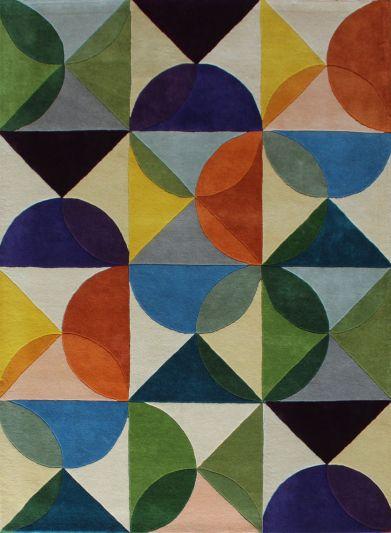 Carpet Mantra Multi Modern Carpet 5.7ft x 7.10ft