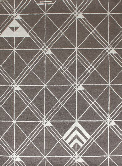 Carpet Mantra Grey Modern Carpet 5.7ft x 7.9ft
