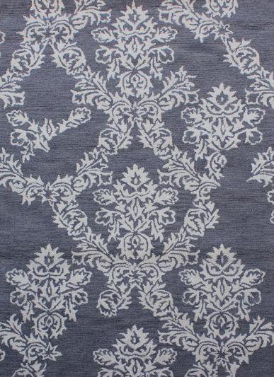 Carpet Mantra Dk. Grey Floral Carpet 5.0ft x 7.6ft