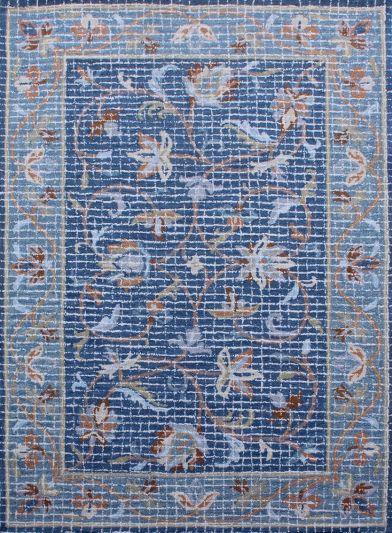 Carpet Mantra Blue Modern Carpet 5.0ft x 7.6ft