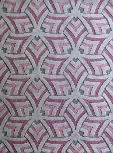 Carpet Mantra Purple Modern Carpet 4.6ft x 6.6ft