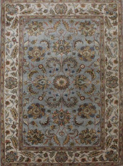 Carpet Mantra Grey Floral Carpet 5.9ft X 8.8ft