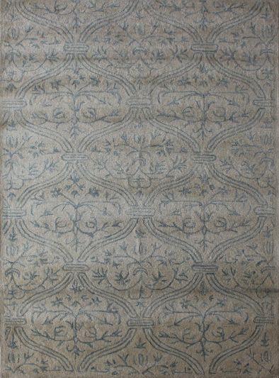 Carpet Mantra White Floral Carpet 5.6ft X 8.6ft