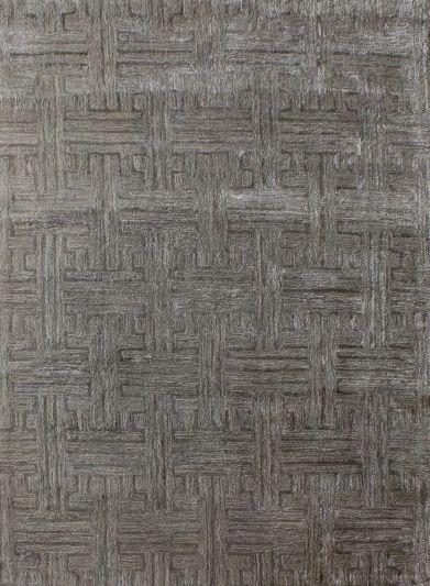 Carpet Mantra Grey Modern Carpet 5.0ft X 7.6ft