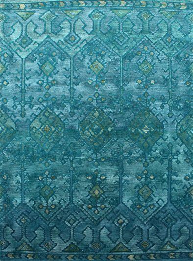 Carpet Mantra Turquoise Modern Carpet 7.9ft X 9.9ft