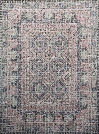 Carpet Mantra Grey Modern Carpet 7.9ft X 9.9ft