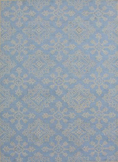 Carpet Mantra Turquoise Modern Carpet 5.0ft X 8.0ft