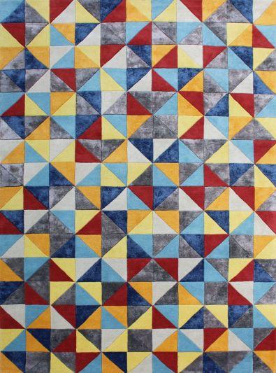Carpet Mantra Multi Modern Carpet 6.0ft X 9.0ft