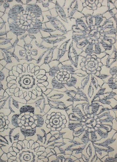 Carpetmantra Grey Modern Carpet 4.6ft X 6.6ft