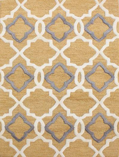 Carpetmantra Gold Modern Carpet 3.6ft X 5.6ft