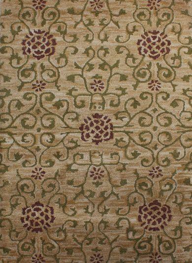 Carpetmantra Gold Modern Carpet 3.7ft X 5.6ft