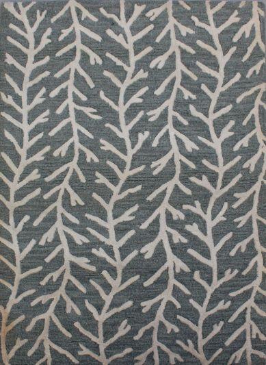 Carpetmantra Grey Modern Carpet 3.5ft X 5.5ft