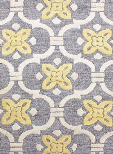 Carpetmantra Grey Modern Carpet 3.6ft X 5.6ft
