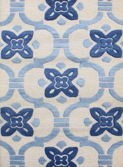 Carpetmantra White Modern Carpet 3.7ft X 5.5ft
