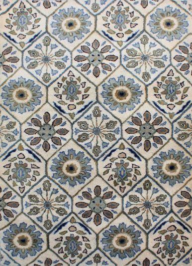 Carpetmantra White Floral Carpet 3.6ft X 5.4ft