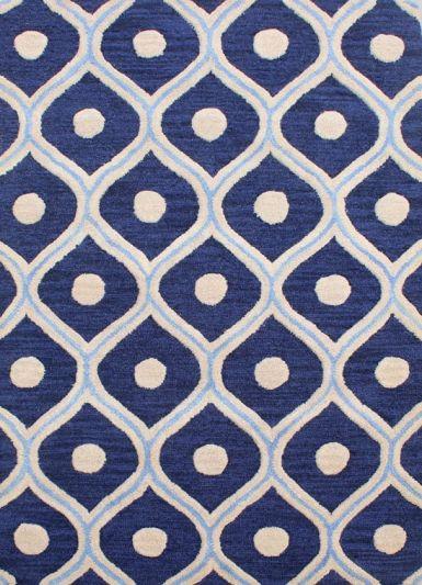 Carpetmantra Blue Modern Carpet 3.6ft X 5.6ft