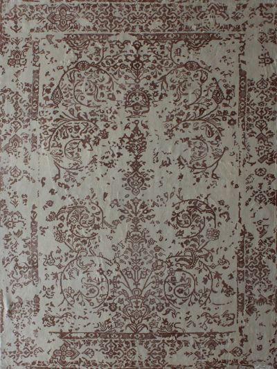 Carpetmantra White Floral Carpet 5.7ft X 7.10ft