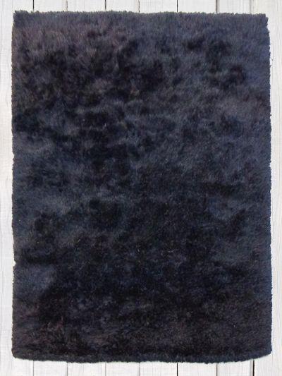 Carpetmantra Black Chick Shaggy 5.3 ft X 7.7 ft
