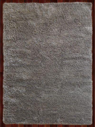 Carpetmantra  Silver  Metalic Shaggy 5.7ft X 7.10ft
