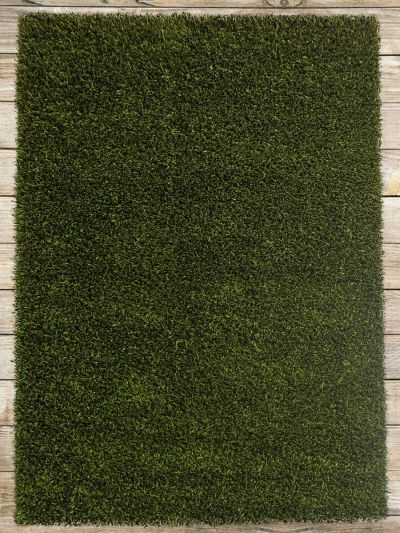 Carpetmantra Green Stick Shaggy 5.7ft X 7.10ft