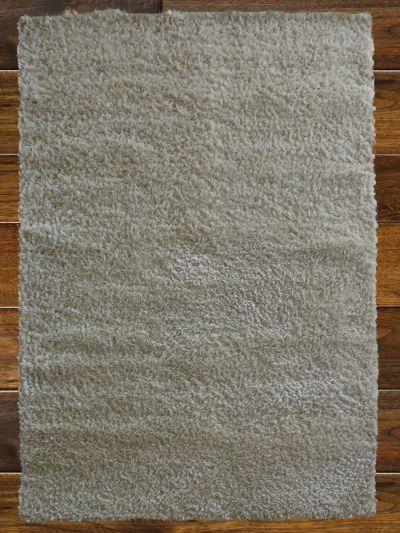 Carpetmantra White Metalic Shaggy Carpet