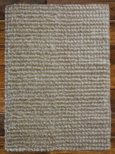 Carpetmatra White Tassel Shaggy 4.6ft X 6.6ft