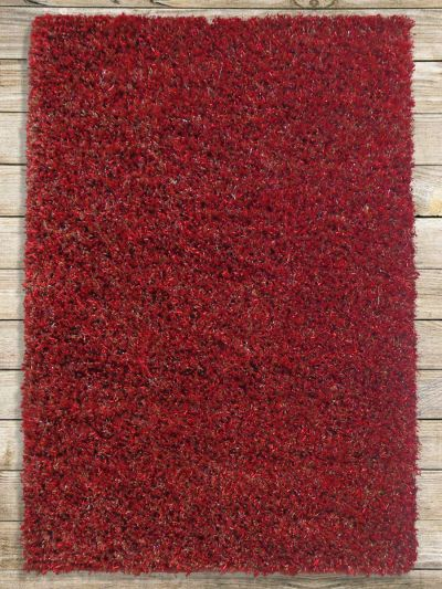 Carpetmantra Red Mixed Shaggy 4ft X 6ft