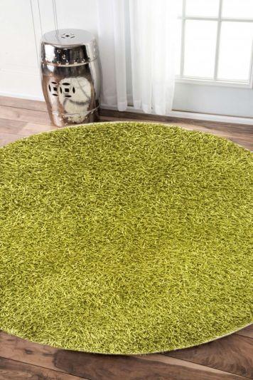 Carpetmantra stick Green Round shaggy