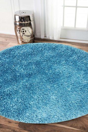 Carpetmantra stick Turquoise  Round shaggy