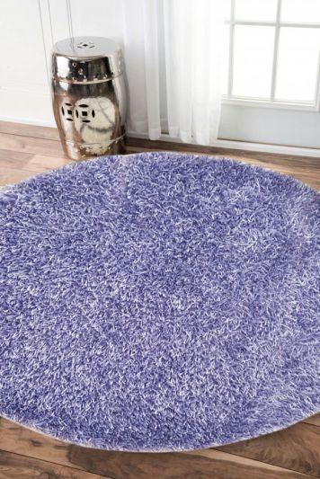 Carpetmantra stick Violet  shaggy 4ft Round
